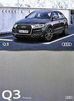 10.345) Audi Q3 Prospekt 9/2016 + Preisliste price list 02-2017 Brochure