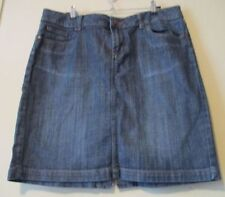Above Knee A-Line Denim Machine Washable Skirts for Women