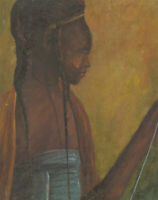Christo - 20th Century Oil, Portrait of a Tribal Lady