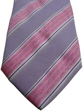 ANDREWS TIES Mens Tie Lilac & Pink Stripes