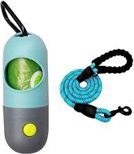 Dog Poop Bag Dispenser Built-in LED Flashlight and Dog Leash,Dog Accessories