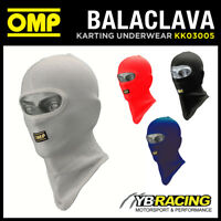 KK03005 OMP KARTING OPEN FACE BALACLAVA ADULT ONE SIZE COTTON KNIT in 4 COLOURS