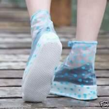 Ladies Rain Snow Waterproof Foldable Shoes Cover( L - Red Polka)