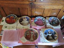 Six Happy Holidays Barbie Plates 1988,1989/1990/1995/1996/ &1997- with Coa
