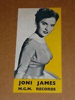 Joni James 1954/56 MGM 45/78/EP Records Flyer