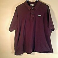 Lacoste Men's Short Sleeve Solid Brown Polo Shirt Size 8 XXL