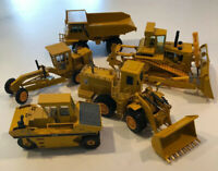LOT 5 Vintage CAT Diecast Yellow Conrad NZG Caterpillar 1:50 W. Germany Trucks