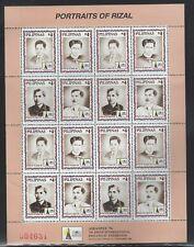 Philippines #2448 MNH Full Sheet  CV$12.00 Jose Rizal Portraits ASEANPEX IPEX