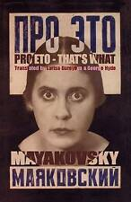 Pro Eto: That's What by Vladimir Mayakovsky (Paperback, 2008)