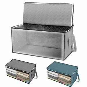 Storage Bag Clothes Blanket Quilt Closet Sweater Foldable Organizer Box Pouch CN