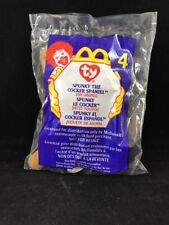 Ty Teenie Beanie Babies ~Spunky the Cocker Spaniel Puppy dog #4 McDonalds 1999