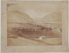 RARE Orig Albumen Photo - Island of Hawaii - Sandwich Islands c 1870s Settlement