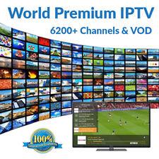 WORLD IPTV 1 MONTH 6200+ Premium Ch & VOD -US, Europe, Asia- Smart TV, MAG, M3U