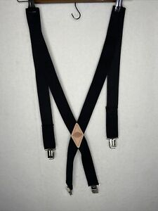 Dickies Men's 1-1/2 Solid Straight Clip Suspender Black Size One Size *sm. Flaw