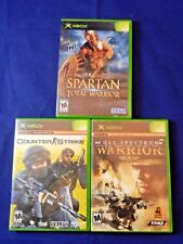Lot of 3 XBox;Counter Strike,Full Spectrum Warrior,Both Compl.,Spartan, VG,FR SH