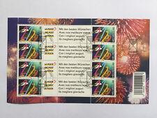 Feuille de  timbres suisses YT CH1634 + vignette FDC émis en 1999