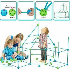 Building A Fortress Building Kit Building Blocks Kit Diy 3D Play House Toys