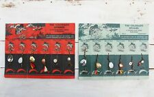 Set of 2 Vintage Fishing Lure Display Card: The Colorado Spinner Abbey & Imbrie