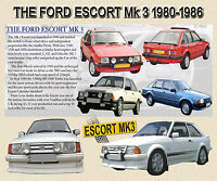 FORD ESCORT MK3 CLASSIC CAR MOUSE MAT LIMITED EDITION DESIGN. RS TURBO XR3i