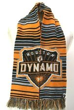 "Adidas Houston Dynamo MLS Major League Soccer Orange Black Acrylic 59"" Scarf"