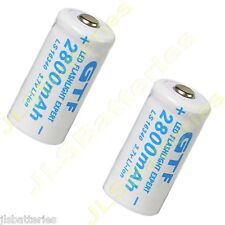 2 X 16340 2800mAh 3.7V CR123A 123A Li-ion Rechargeable Battery For Flashlight T5
