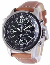 Seiko Solar Alarm Chronograph SSC081P1 SSC081P SSC081 Men's Watch