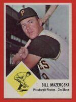 1963 Fleer #59 Bill Mazeroski EX+ WRINKLE Pittsburgh Pirates HOF FREE SHIPPING