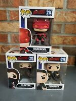 Funko POP Netflix DAREDEVIL 214 Lot w/ PUNISHER 216 & ELEKTRA 215 - w/Protectors