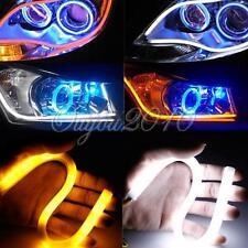 2x 30cm Flexible Car Soft Tube Guide LED Strip Light DRL Daytime Running Lamp