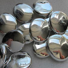 10 perles blanc argent big nugget shining 30mm chunky craft & bijoux