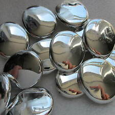 10 Beads White Silver Big Nugget Shining  30mm Chunky Craft & Jewellery