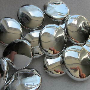 10 Beads White Silver Big Nugget Shining  30mm Chunky Craft & Jewellery