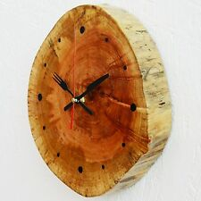 Unique Wall Clock Handmade Wooden Rustic Watch for Decor Battery Operated