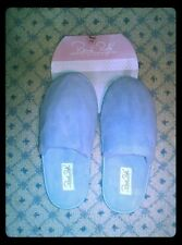 Womens Vintage Rene Rofe Light Blue Comfy Soft Bedroom Slipper Shoes Sz S 5/6