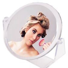 """6"""" ROUND TWO-SIDED MIRROR Free Stand Bathroom/Vanity/Dressing Table X3 Magnifier"""