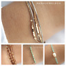 Fashion New Gold Silver Plated Stainless Steel Bracelet Pearl Multi Row Chain