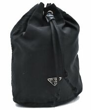 Authentic PRADA Nylon Pouch Black A3544