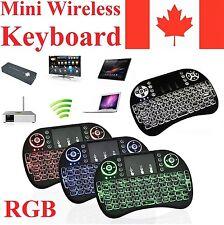 Android TV Box Mini Backlit Wireless Remote Control Keyboard for KODI XBMC RGB