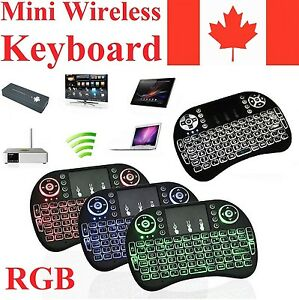 RGB Wireless Keyboard Remote + Mouse Touch Pad for Android TV Box Computer PS4