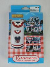 Lemax American Flag Decoration 16 Accessories 84371 545413 2cs