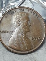 1976 Double Die reverse One Cent US Error Lincoln Penny Coin verry rare
