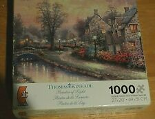 NEW THOMAS KINKADE 1000 Piece Jigsaw Puzzle. Painter Of light. LAMPLIGHT LANE.
