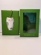 Kate Spade Tall OWL ORNAMENT Woodland Park ~ NEW IN BOX