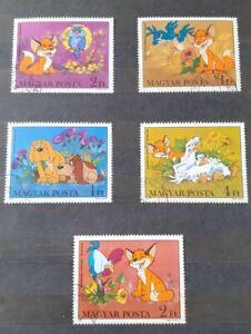 Hungary Magyar Posta Disney 1982 5 Stamps