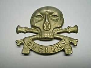 BRITISH ARMY 17TH 21ST LANCERS LATER ROYAL DEATH OR GLORY WWII CAP BERET BADGE