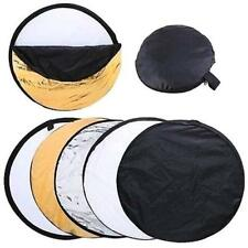 """5 in 1 43"""" 110cm Photography Studio Photo Disc Collapsible Light Reflector TOP!"""