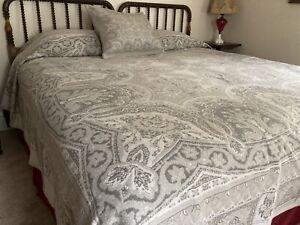 Soft Surroundings Belgian King Size Coverlet & Sham Gray