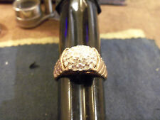 bling gold plated cubic ICED OUT cluster ring hip hop fashion jewelry sIzE 8 GP