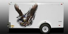 Boat Car Truck Trailer Motorcycle Graphics Decals Stickers Wrap Eagle Flag 50""