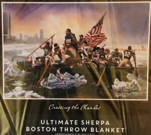 Crossing the Charles Super Soft Throw Blanket Patriots 48x60